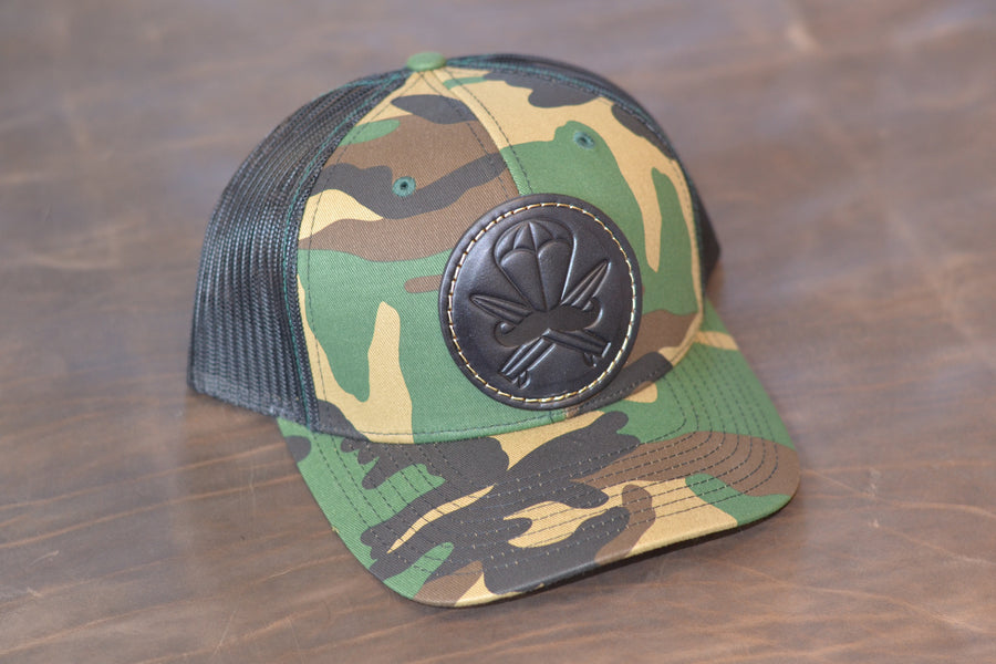 M81 Camo Leather Patched Hat