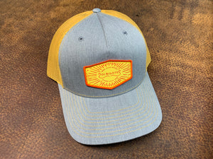 Grey and Yellow Patched Hat - Send. Sleep. Repeat.