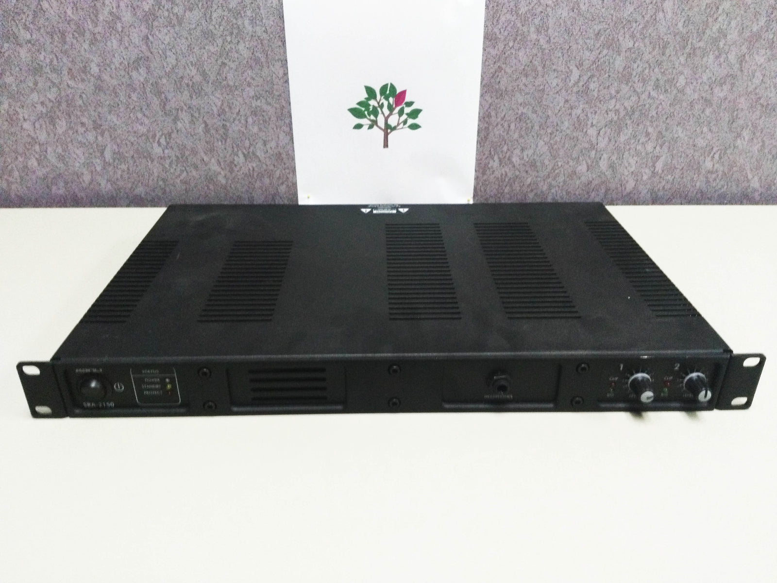Ashly SRA-2150 Rack Mount Amplifier Two Channel 80 Watt Ch at 8 Ohms 1RU Chassis Class D Output Circuitry (Used)