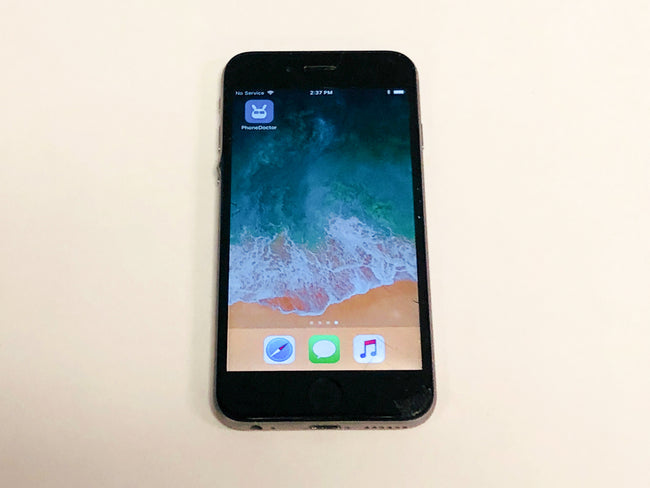 iPhone 6 AT&T Black 16 GB - Broken and Seperated Screen - XMG5MC A1549