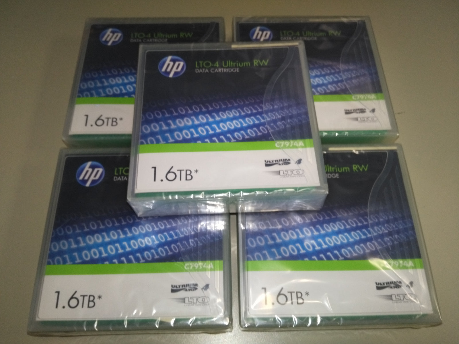 8x HP LTO-4 Ultrium RW Data Cartridge 1.6TB Backup Tape C7974A (New Sealed)