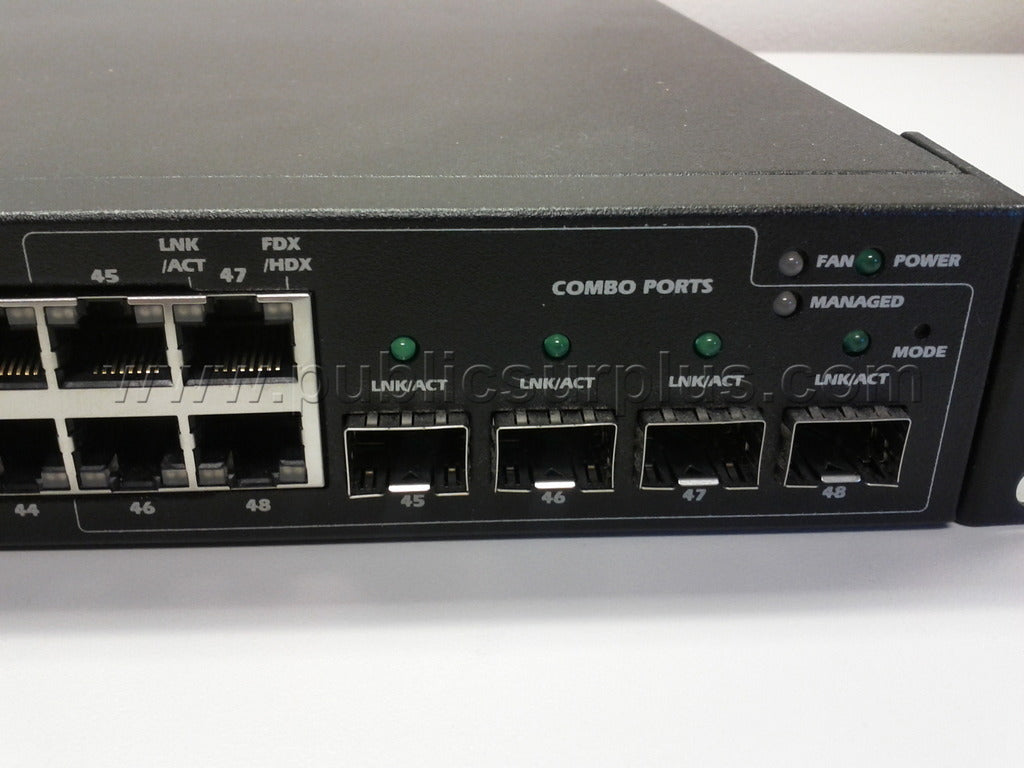 Dell PowerConnect 2748 Rack Mount Switch / 48 Port Managed  Fast Ethernet