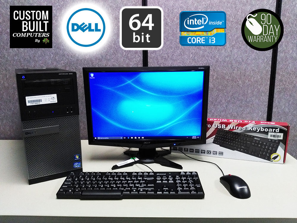 **Complete Bundle** Dell Optiplex 390 DT & 3rd Tier Monitor Deal