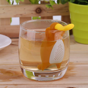 Infuseur à thé orange platypus tasse