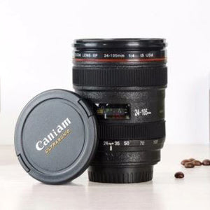 Tasse appareil photo zoom couvercle