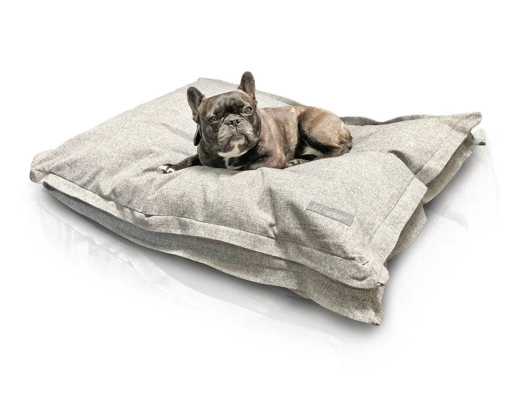 GRAY LINEN PILLOW LARGE DOG BED