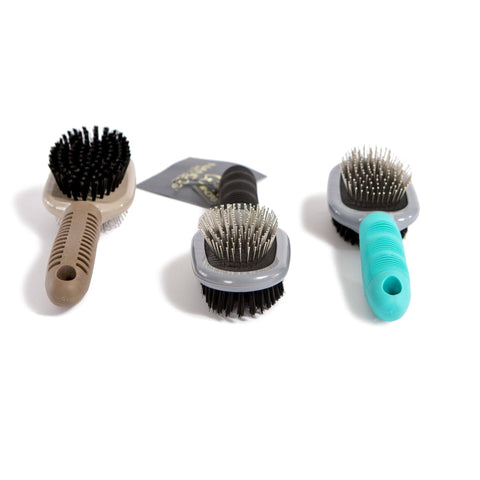 Beige Double Sided Grooming Brush - NANDOG PET GEAR