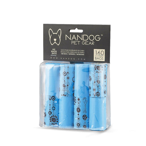 BLUE NANDOG POOP BAG 8 ROLLS - NANDOG PET GEAR