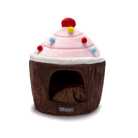 Brown Cupcake Bed - NANDOG PET GEAR