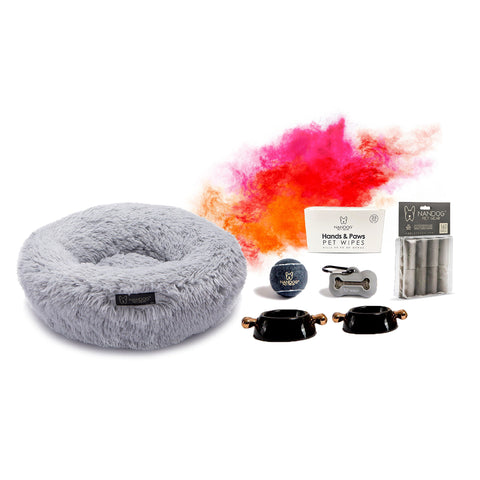 Calming Shaggy Bed Bundle - NANDOG PET GEAR