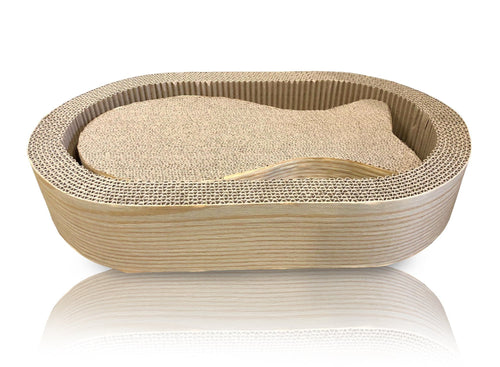 CAT SCRATCHER FISH OVAL SET