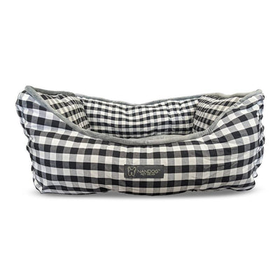 Checkered Reversible Dog & Cat Bed
