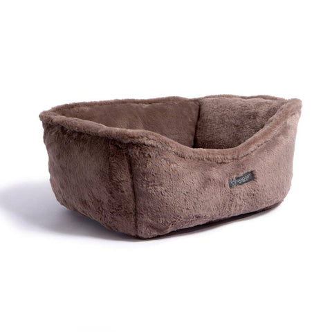 Chocolate Reversible Dog & Cat Bed - NANDOG PET GEAR