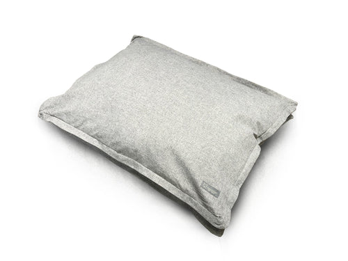 LINEN PILLOW LARGE DOG BED GRAY