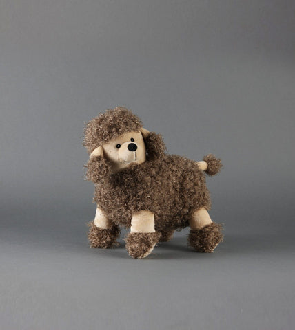 BROWN ALPACA DOG TOY