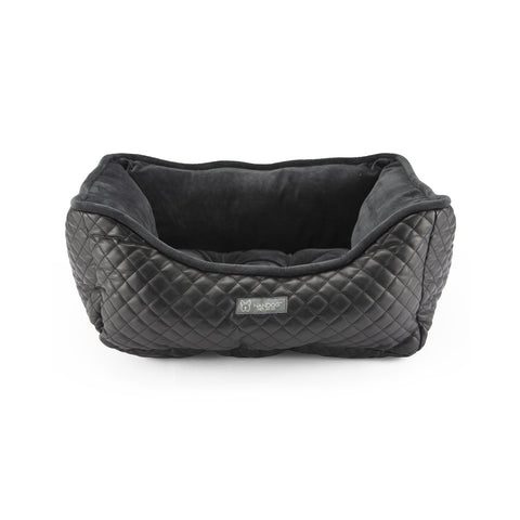 Prive Collection Quilted Vegan Leather (Black)