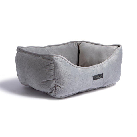 Quilted Reversible Bed (Light Grey) - NANDOG PET GEAR