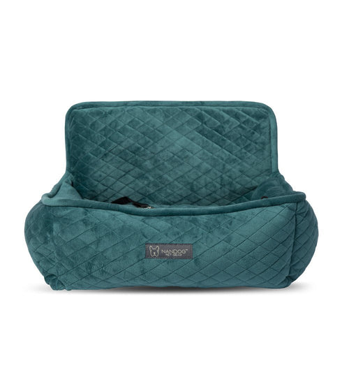 TEAL DOG CAR SEAT QUILTED BED