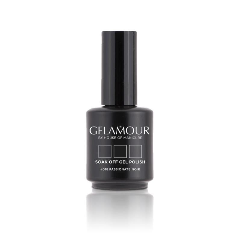 UV/LED Gel-lak (#018 Passionate Noir) Klasična črna, 15ml