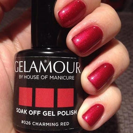 UV/LED Gel-lak (#026 Charming Red), 15ml
