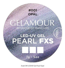 UV/LED Barvni gel Holographic perl efekt (FXS 001 - Opal), 7gr