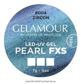 UV/LED Barvni gel Holographic perl efekt (FXS 004 - Zircon), 7gr