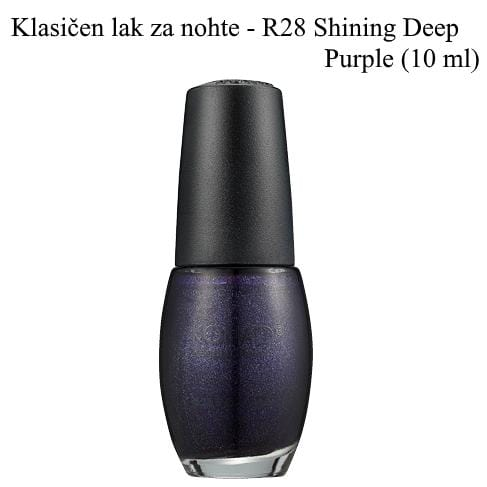 Klasičen lak R28 (Shining deep purple) 10 ml