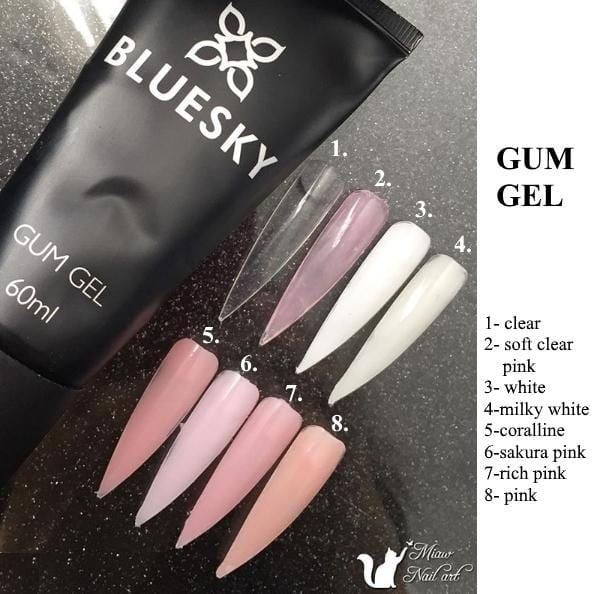 Bluesky UV/LED Gum gel SET