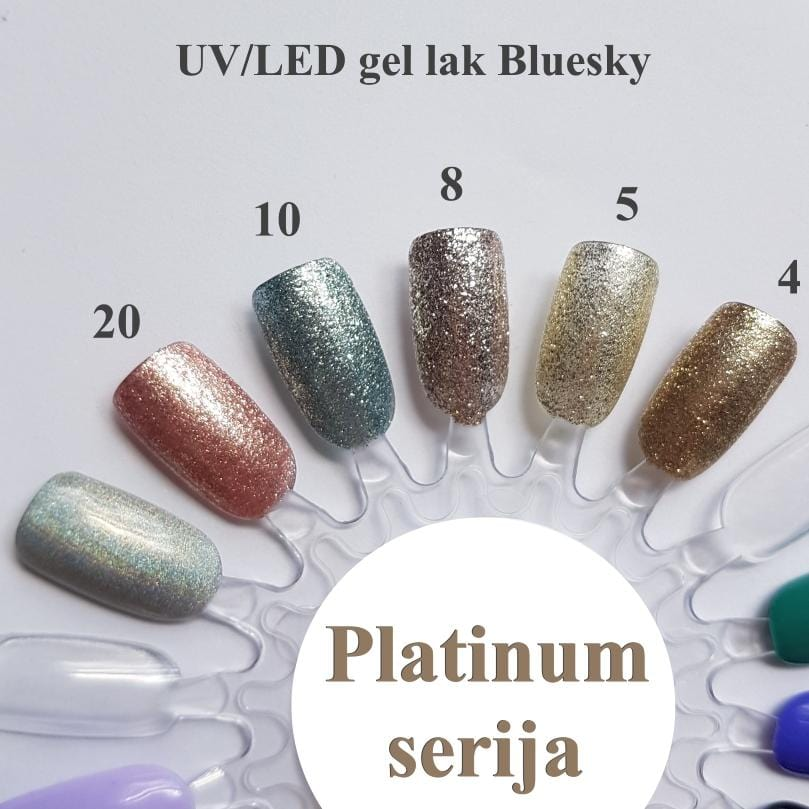 UV/LED gel-lak (Platinum 20), 10 ml