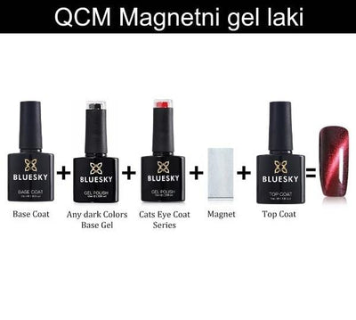 UV/LED gel-lak (Magnetni  - QCM2), 10 ml