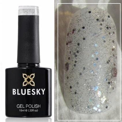 UV/LED gel-lak (A51/ Platinum marble) Prozoren z bleščicami, 10 ml