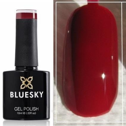 Bluesky UV/LED gel-lak (A80/ Red sky night) Temno rdeča/Bordo, 10ml/15ml