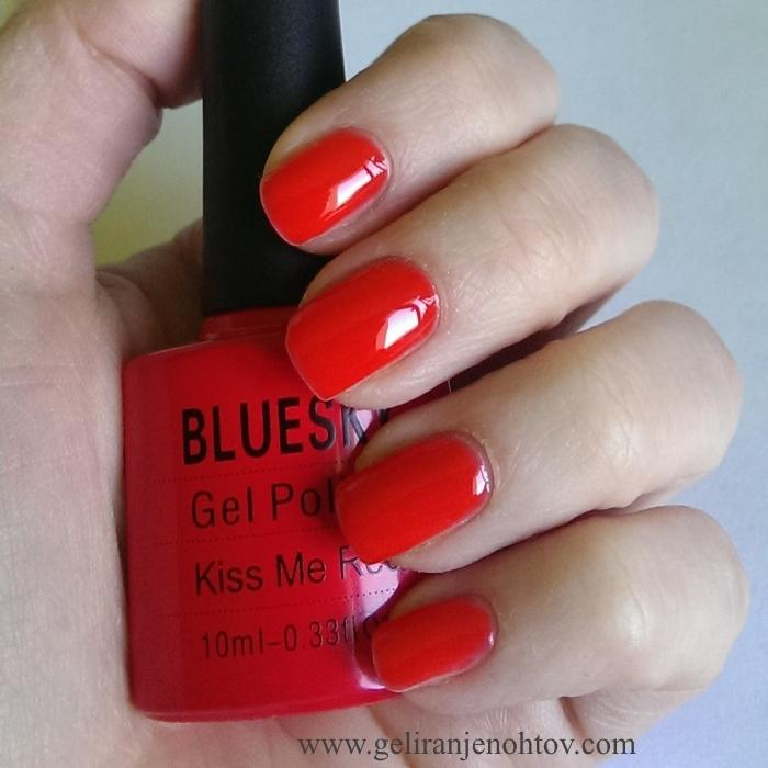 UV/LED gel-lak (031/Kiss me red), 10 ml