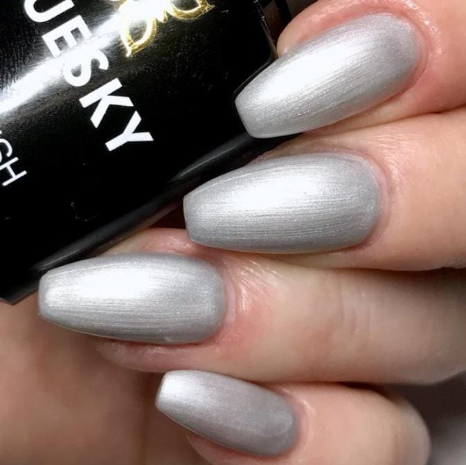 UV/LED gel-lak (80532/ Silver chrome), 10 ml