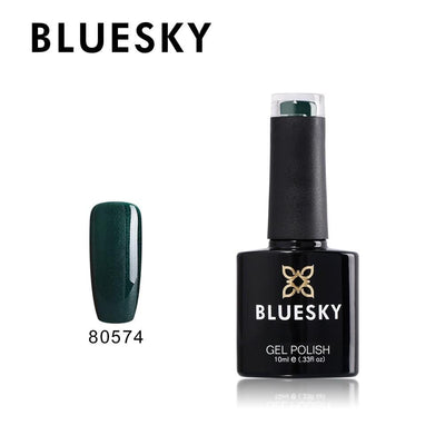 Bluesky UV/LED gel-lak (80574/ Forest green), 10ml_