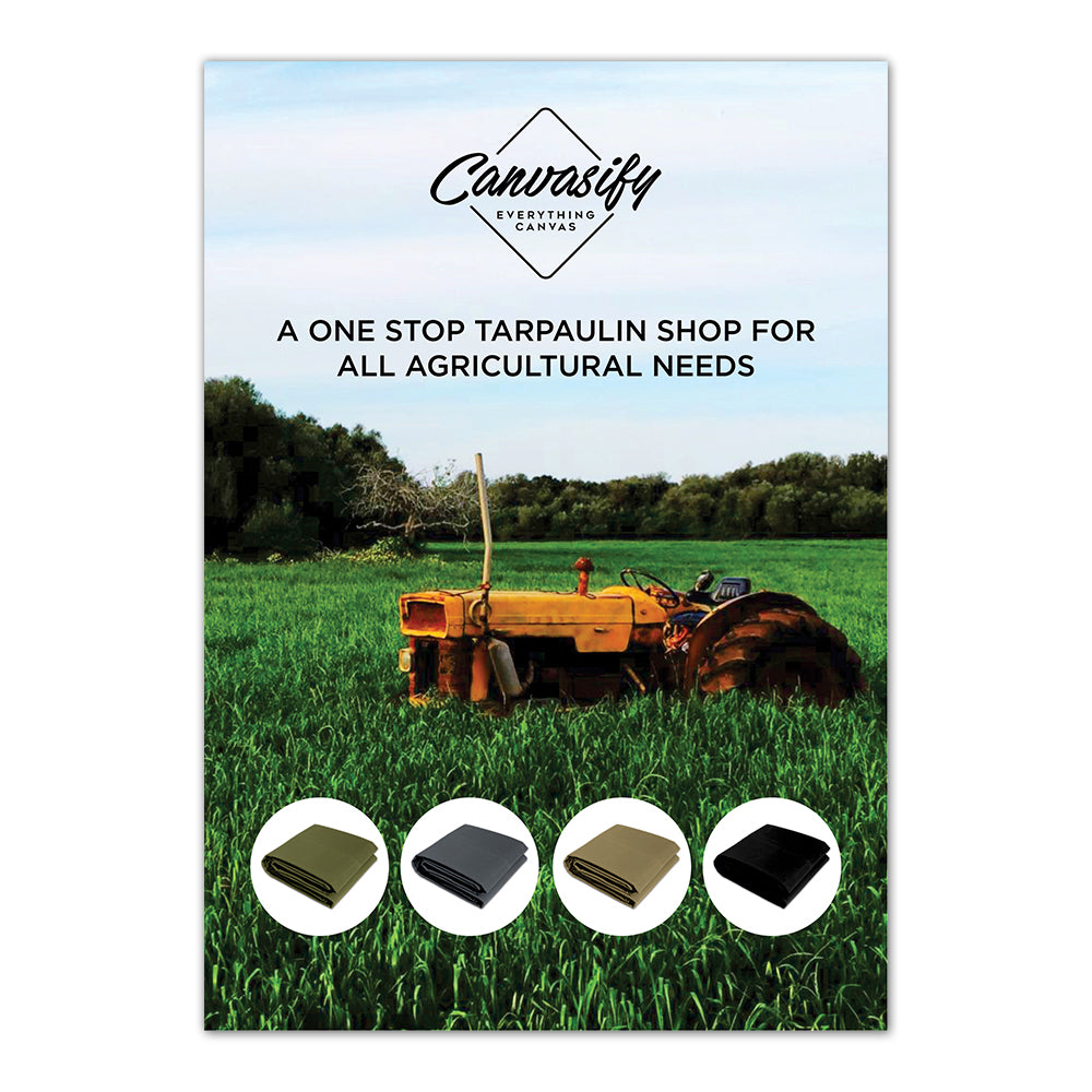 agriculture tarpaulin for field cover sorting grading storage