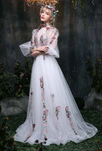 Rococo-Inspired Forest Berries Court Gown with Sexy Sheer Elements