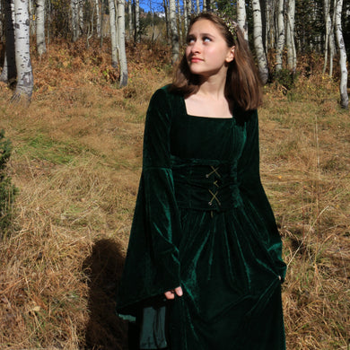Medieval Noble Gown in Green or Purple