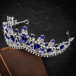 European Style Crystal High Set Crown (Multiple Colors)