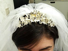 Baroque Style Rhinestone & Pearl Bridal or Quinceanera Tiaras (Handmade Headbands in Multiple Colors and Styles)