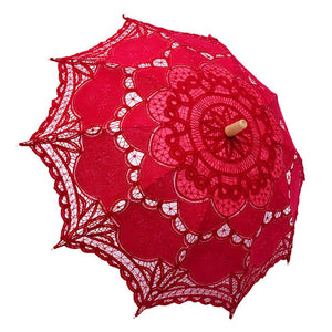 Colorful Embroidered Lace Parasols