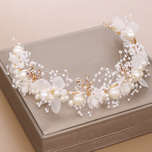 Handmade White Flower & Pearl Wedding Headband