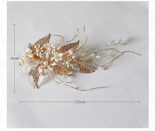 Handmade Wedding / Prom Hair Clips - Gold Leaf Floral Hair Jewelry