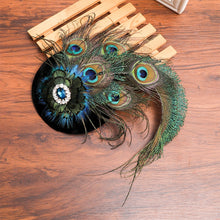 New Peacock Feather Beret/Fascinator