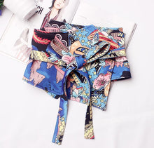 Ladies Runway Fashion Print Wide Bow Cummerbunds