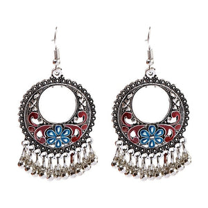 Boho Tasseled Indian Style Drop Earrings