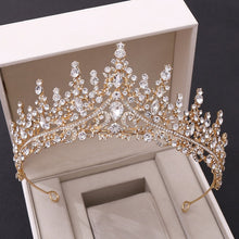 Stunning Baroque Crystal Bridal Tiaras in 6 Colors