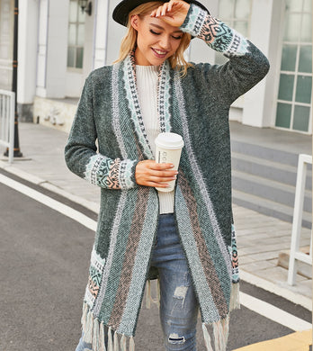 Mandy - 3 Colorful Knitted Boho Sweaters With Pockets