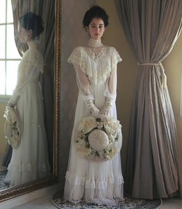 The Country Lady: Garden Party High Neck Vintage Victorian Gown