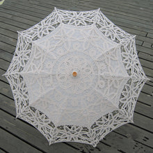 Intricate Lace Wedding Parasol in White or Ivory